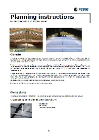 Planning instructions - industrial ceiling fans for destratification